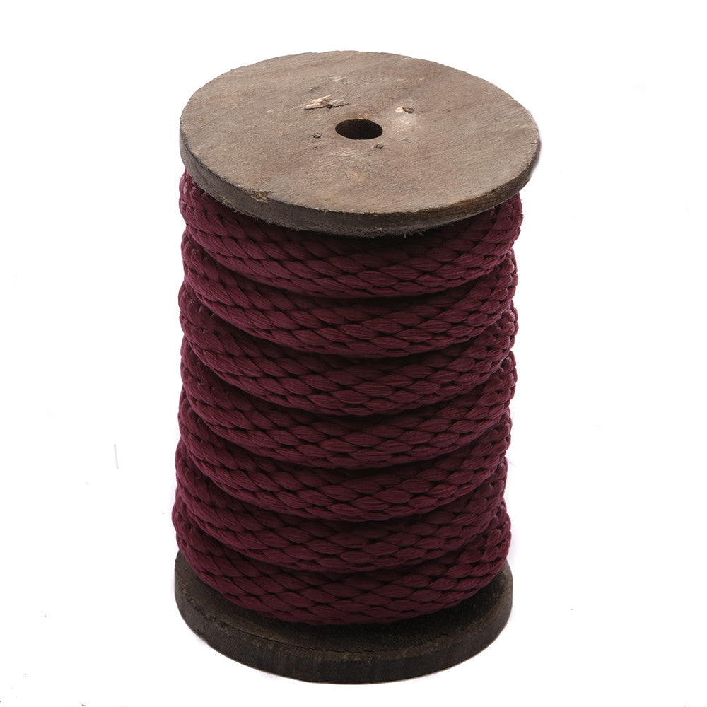 Solid Braid Polypropylene Utility Rope (Bourgogne)