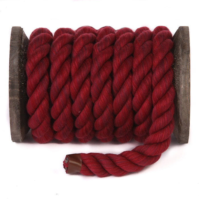 Twisted Cotton Rope (Burgundy)