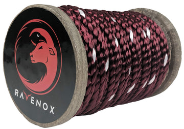 Solid Braid Polyester Rope (Burgundy with Tracer)