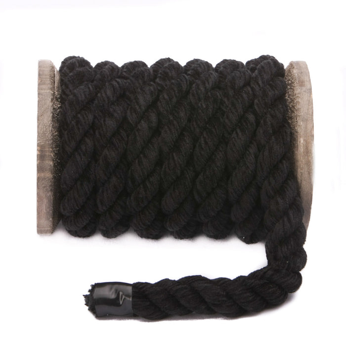 Twisted Chenille Rope (Black)