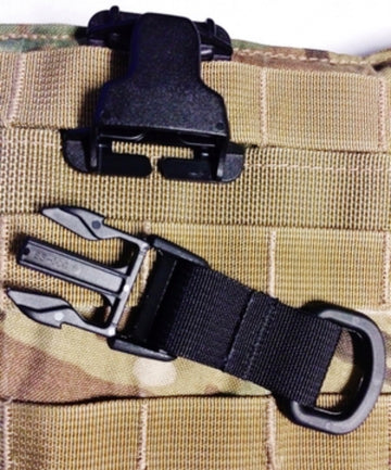 FMS Heavy Duty Molded Miitary D-Ring 1.5 Inch Webbing Strap Accessory Attachment Loop