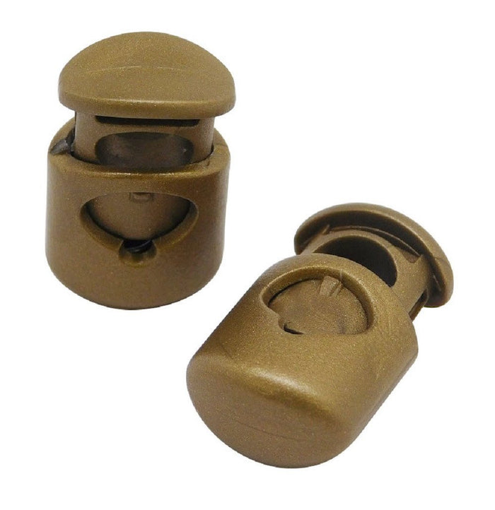 SOLID HEAVY BRASS CORD STOPPER LOCK END TOGGLES 4 DESIGNS VARIOUS QUANTITIES