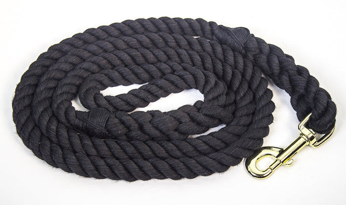 Handmade Twisted Пахта Канат Dog Leash (Black)
