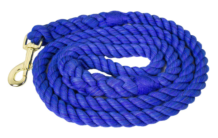 Handmade Twisted Cotton Rope Dog Leash (Royal Blue)
