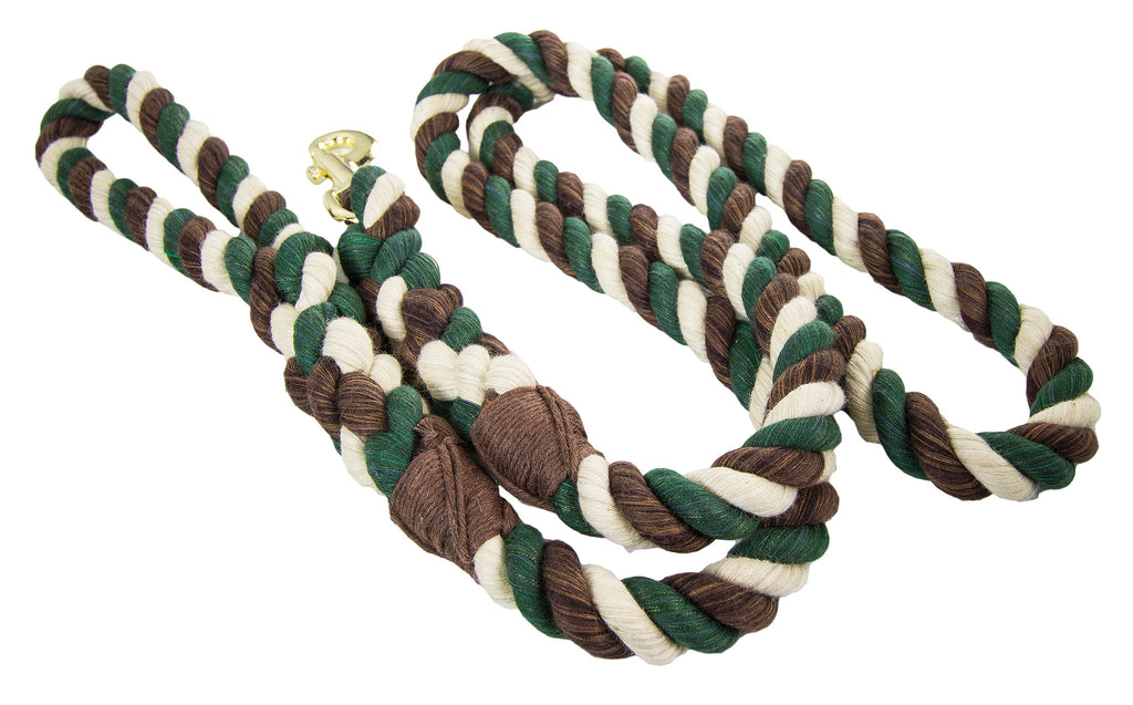 FMS Handmade Twisted Cotton Rope Dog Leash (Camouflage)