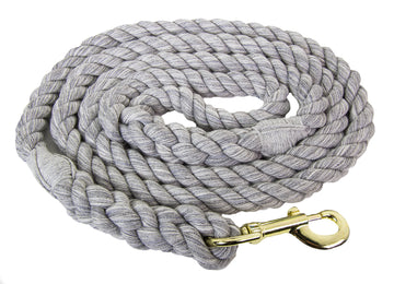Handmade Twisted Cotton Rope Dog Leash (Grey)