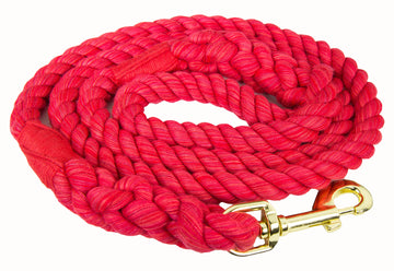 Handmade Twisted Cotton Rope Dog Leash (Red)