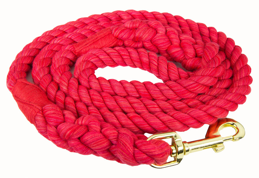 Ravenox Twisted Cotton Rope Dog Leash Walking Dogs Lead Lines Puppies Training Red
