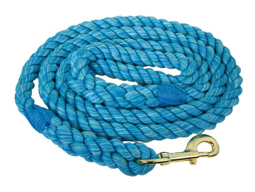 Handmade Twisted Cotton Rope Dog Leash (Turquoise)