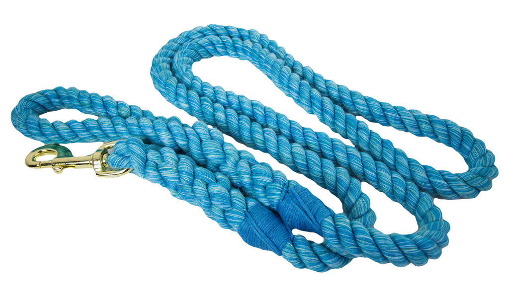 FMS Handmade Twisted Cotton Rope Dog, Pet and Horse Lead/Leash (Turquoise)