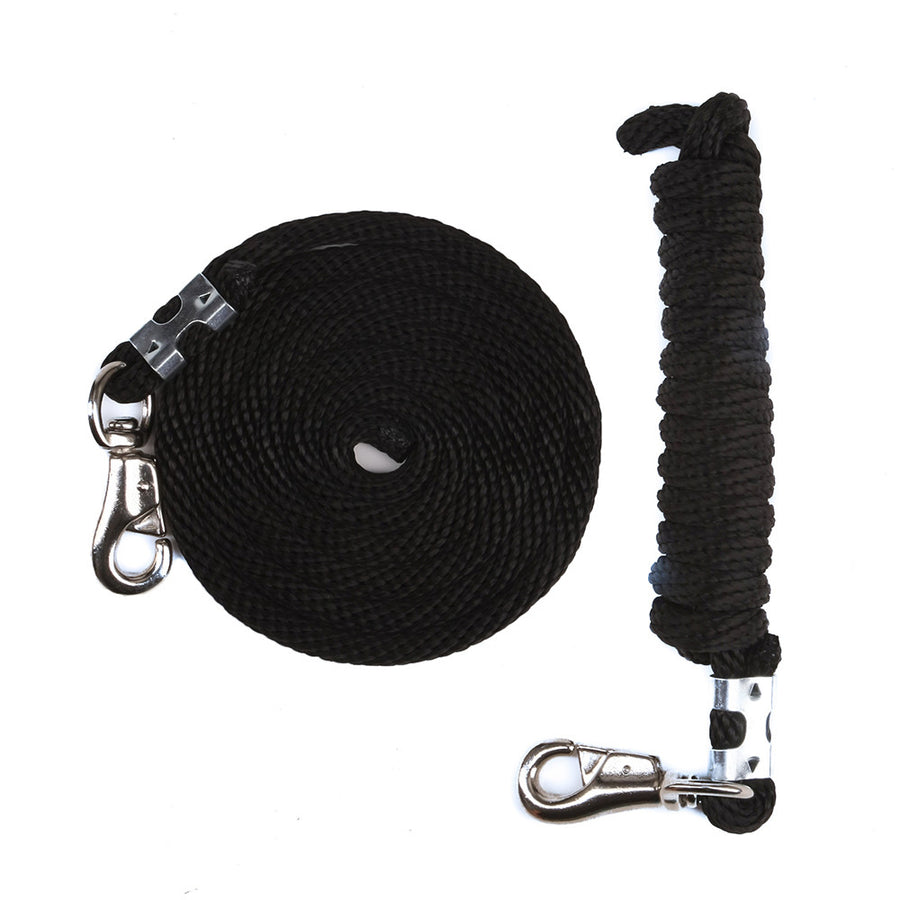 Derby Rope Horse Lead with Bolt Snap or Bull Snap (Black)