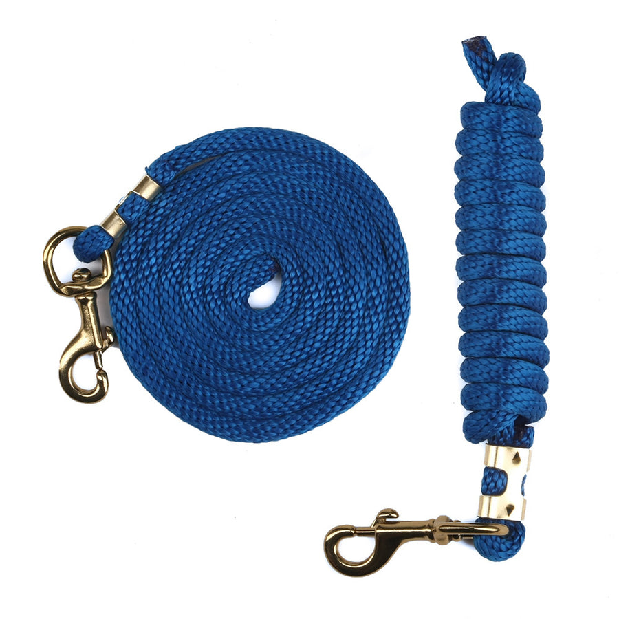 Derby Rope Horse Lead with Bolt Snap or Bull Snap (Blue)