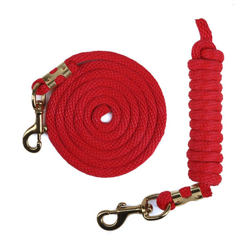 Derby Rope Horse Lead with Bolt Snap or Bull Snap (Red)
