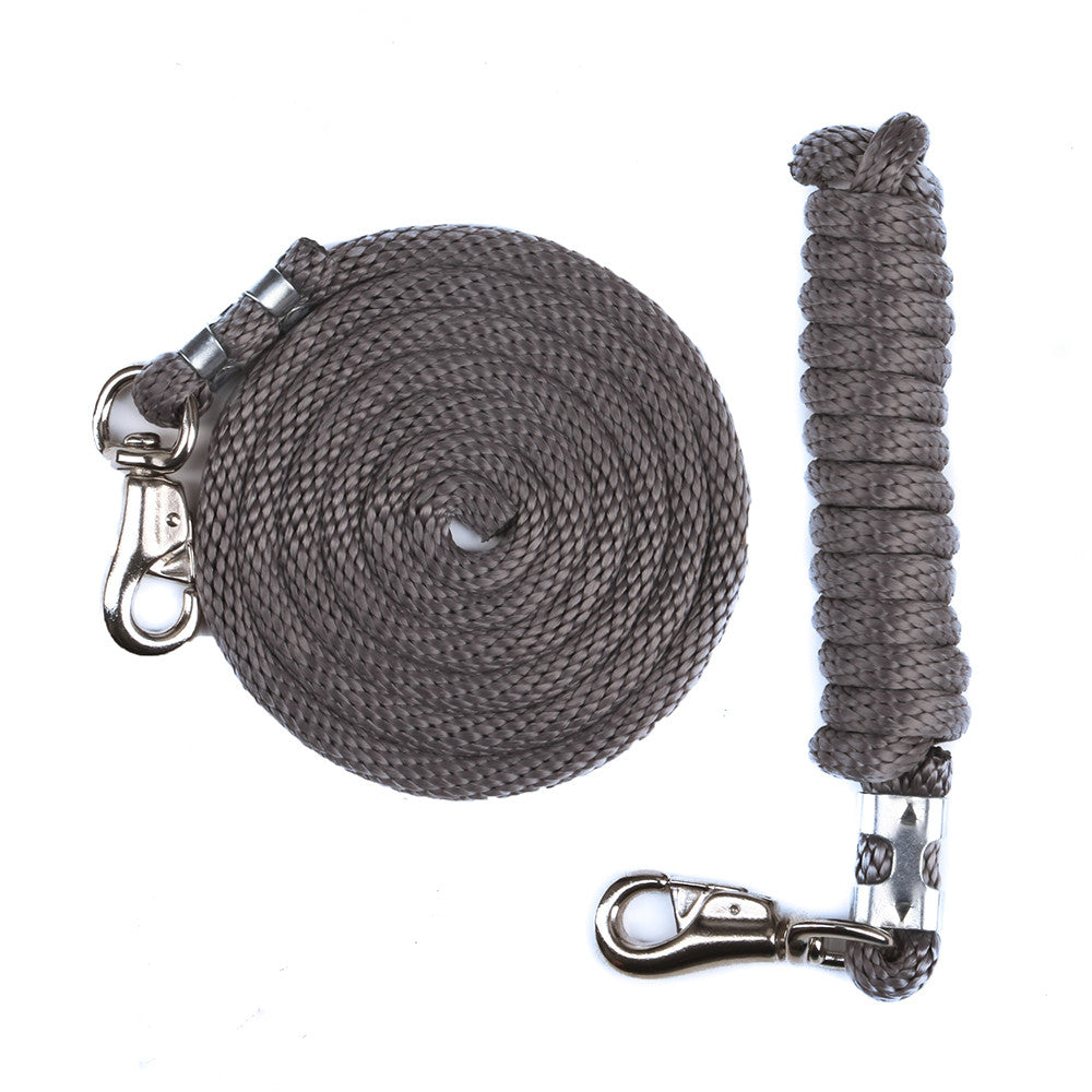 Derby Rope Horse Lead with Bolt Snap or Bull Snap (Silver)