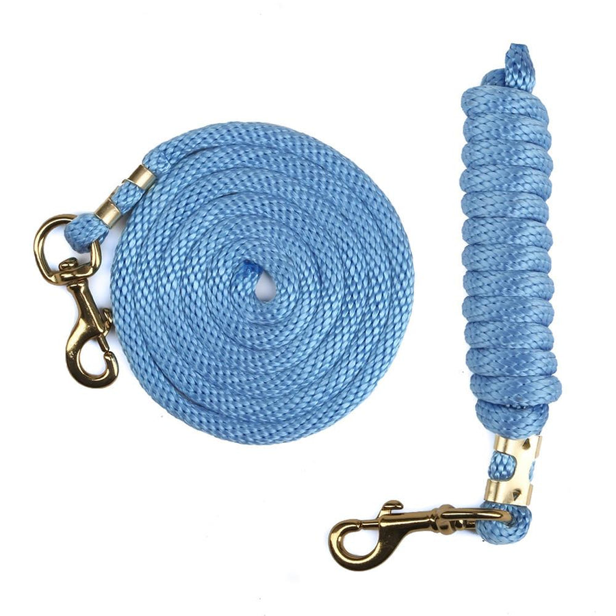 Ravenox Animal Tack Lead Lines | Sky Blue Poly Horse Lead Ropes | Horse Tack