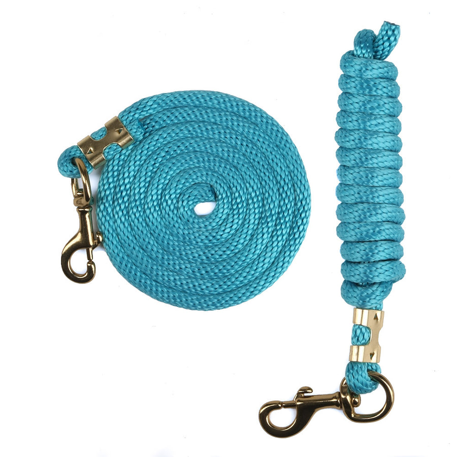 Derby Rope Horse Lead with Bolt Snap or Bull Snap (Turquoise)