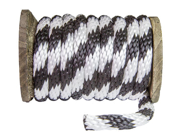Solid Braid Polypropylene Utility Rope (Black & White)