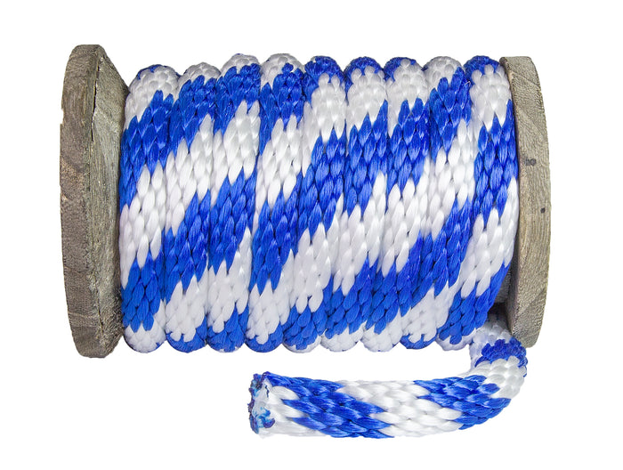 Solid Braid Polypropylen Utility Rope (Blo & Wäiss)
