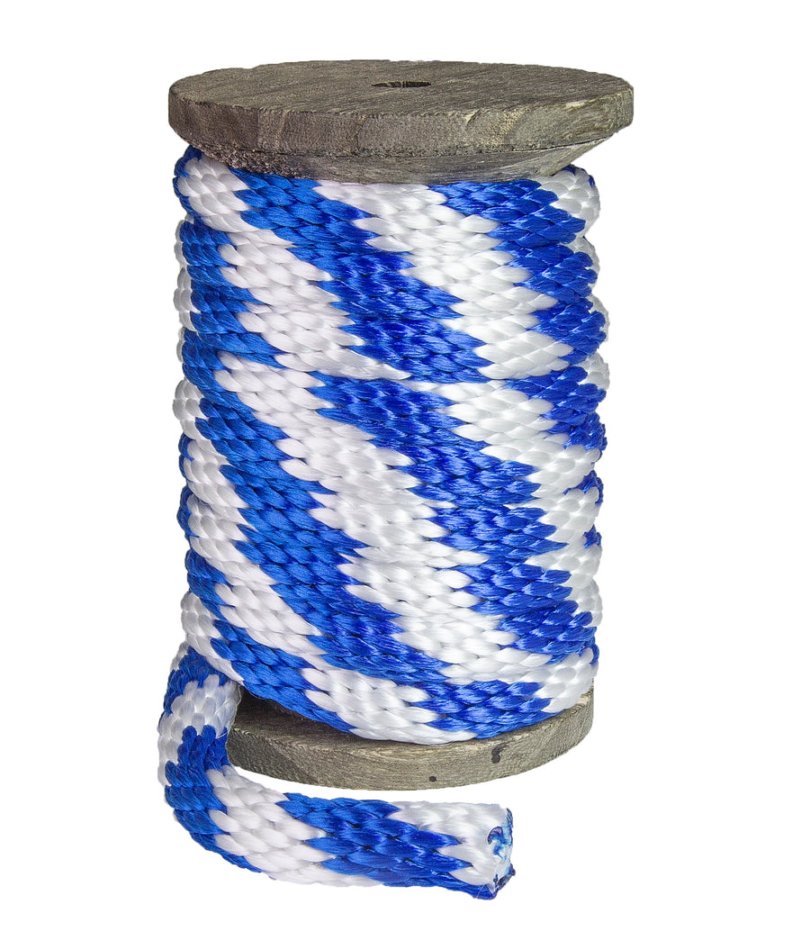 Solid Braid Polypropylene Utility Rope (Blue & White)