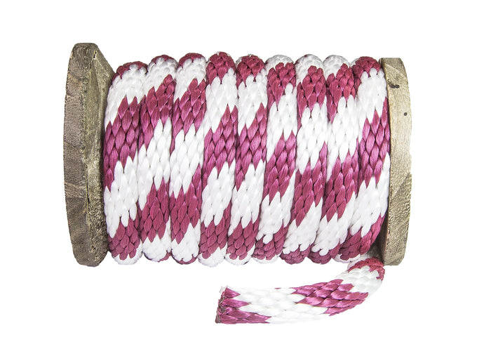 Solid Braid Polypropylene Utility Rope (Burgund & Wäiss)
