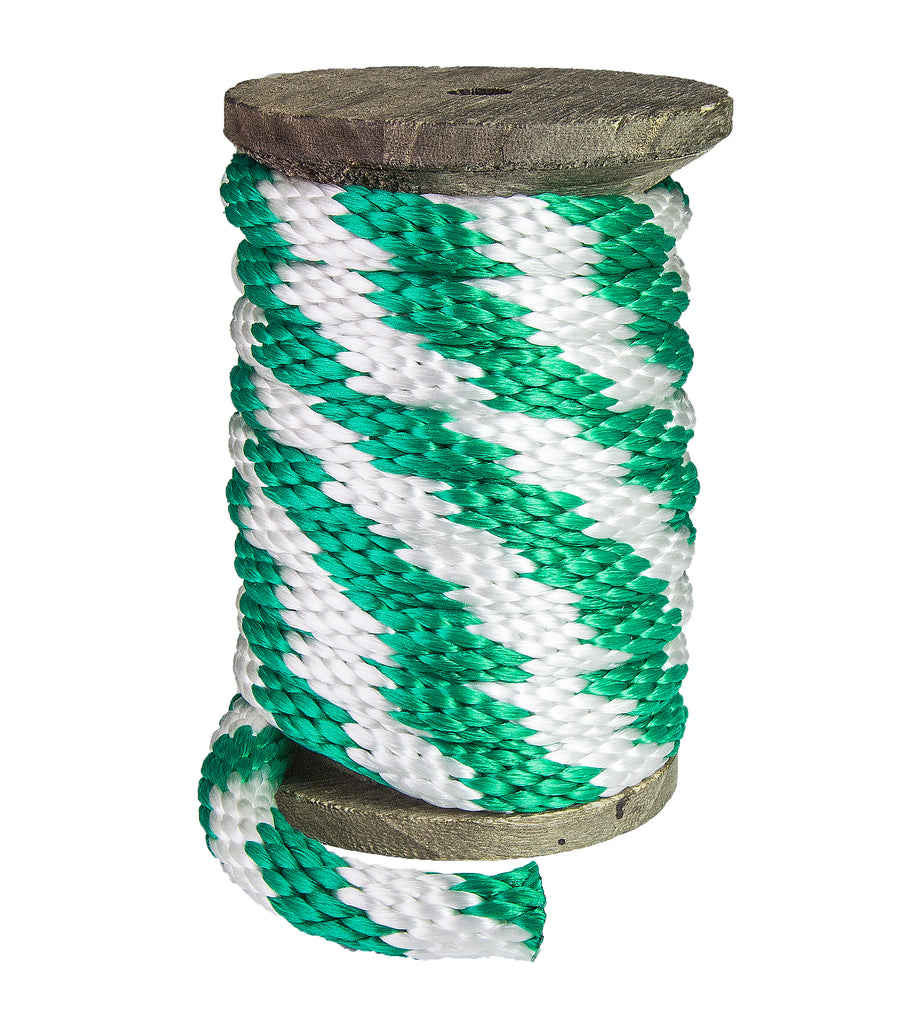 Solid Braid MFP Derby Utility Rope (Green & White)