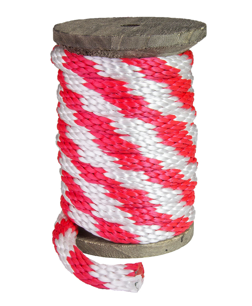 Solid Braid MFP Derby Utility Rope (Red & White)