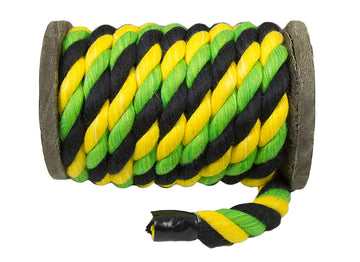 Twisted Cotton Rope (Black, Gold & Lime)