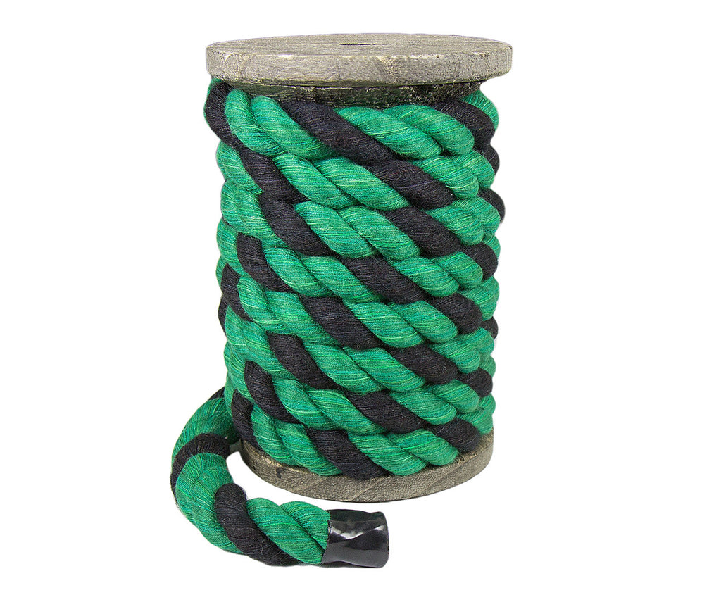 Twisted Cotton Rope (Black, Green & Green)