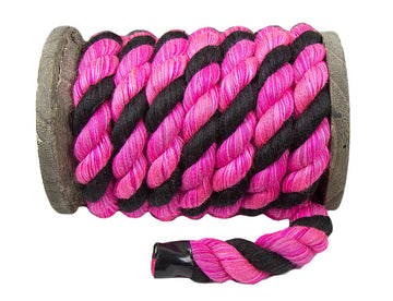 Twisted Cotton Rope (Black, Pink & Pink)