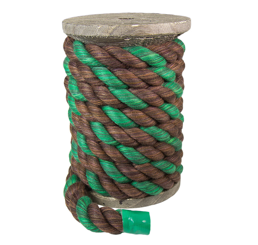 Twisted Cotton Rope (Brown, Brown & Green)