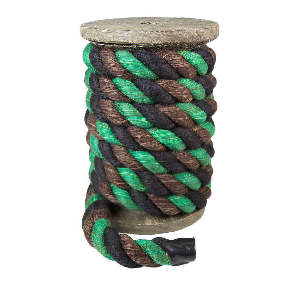 Twisted Cotton Rope (Black, Brown & Green)