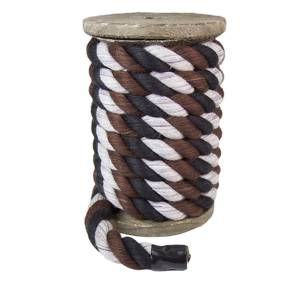 Twisted Cotton Rope (Black, Brown & Grey)