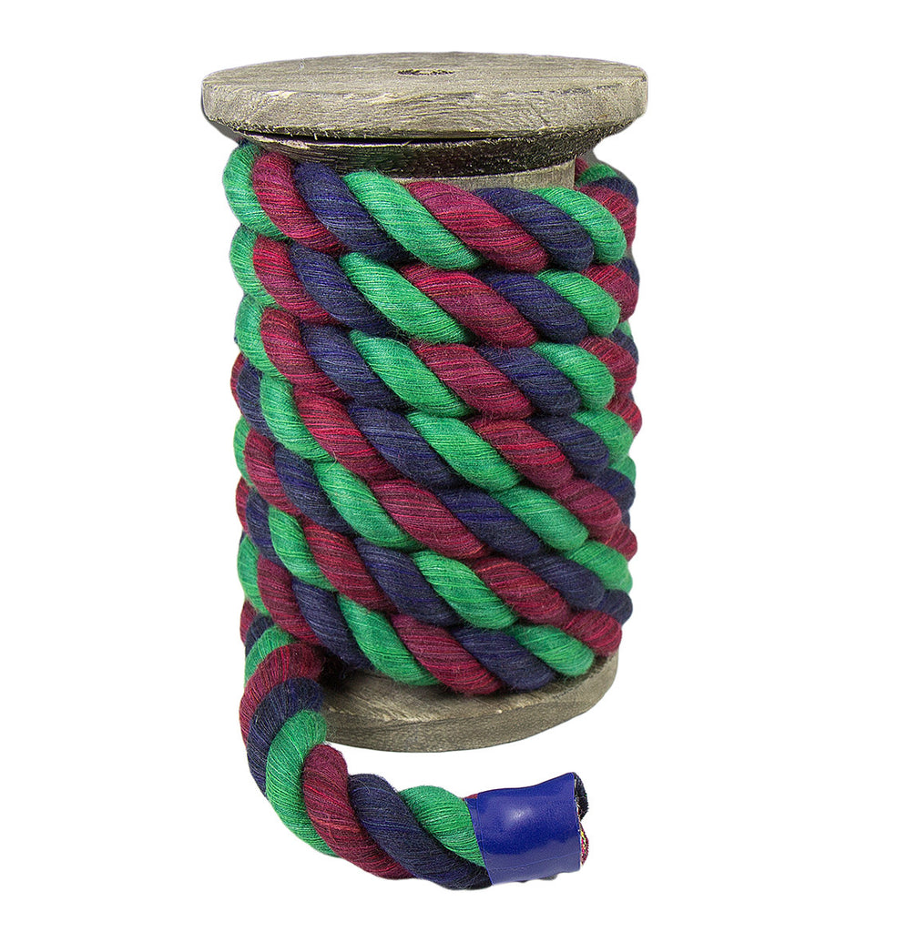 Twisted Cotton Rope (Navy Blue, Burgundy & Green)