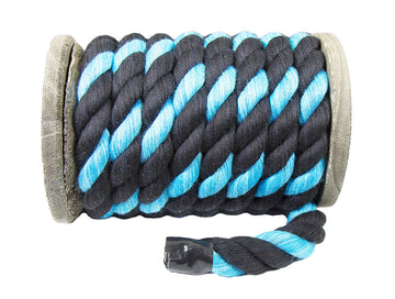 Twisted Cotton Rope (Black, Black & Turquoise)