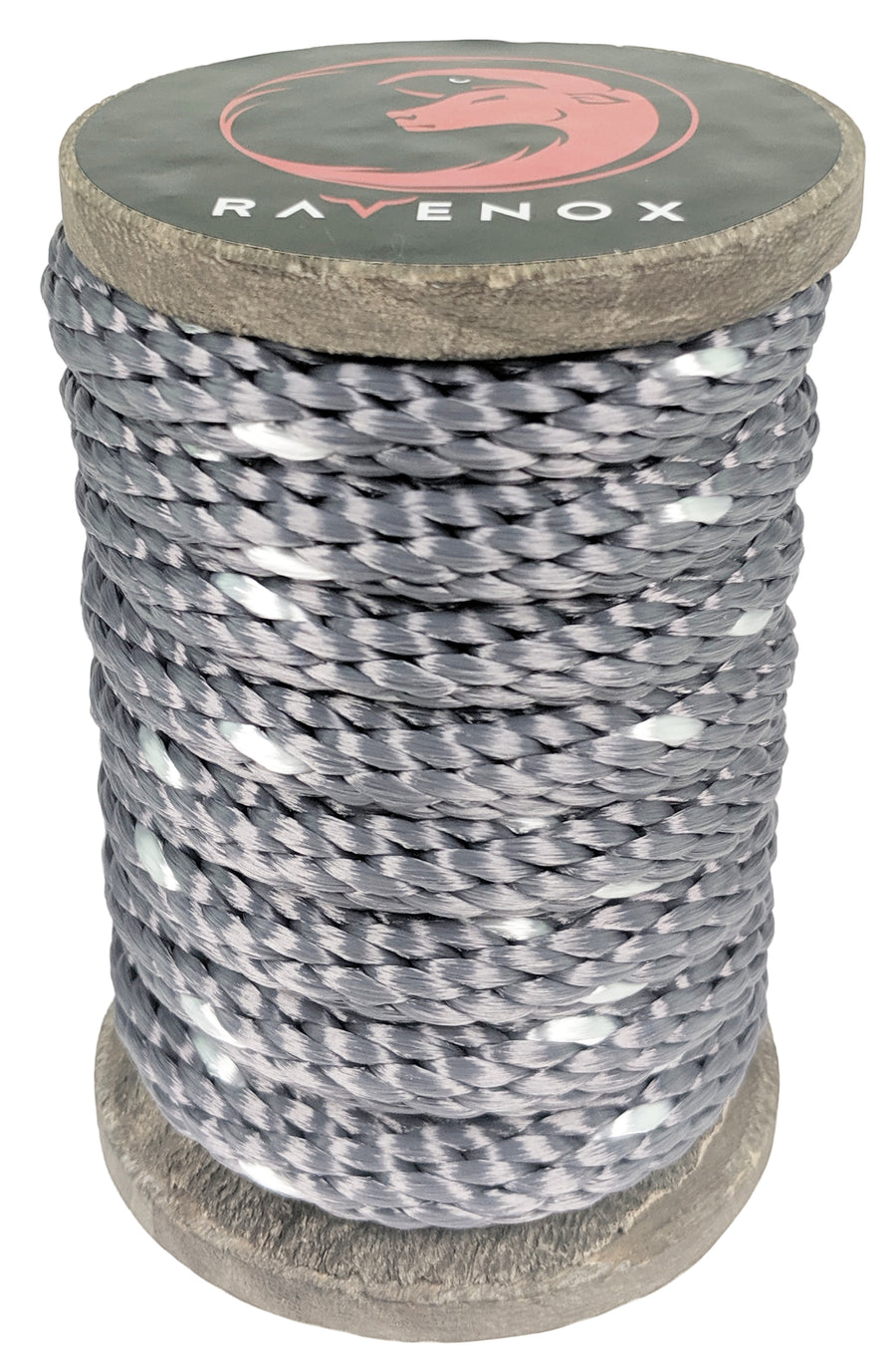 Solid Braid Polyester Rope (Grey with Tracer)