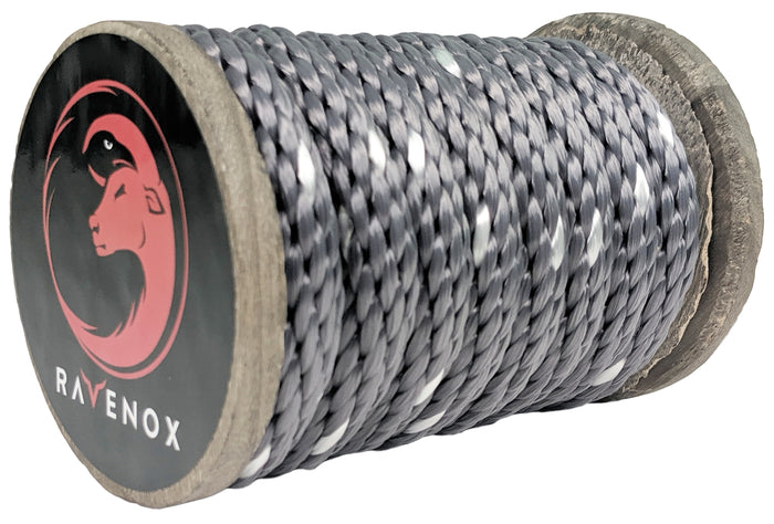 Solid Braid Polyester Rope (Grey neTracer)