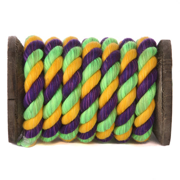 Twisted Cotton Rope (Lime, Gold & Purple)