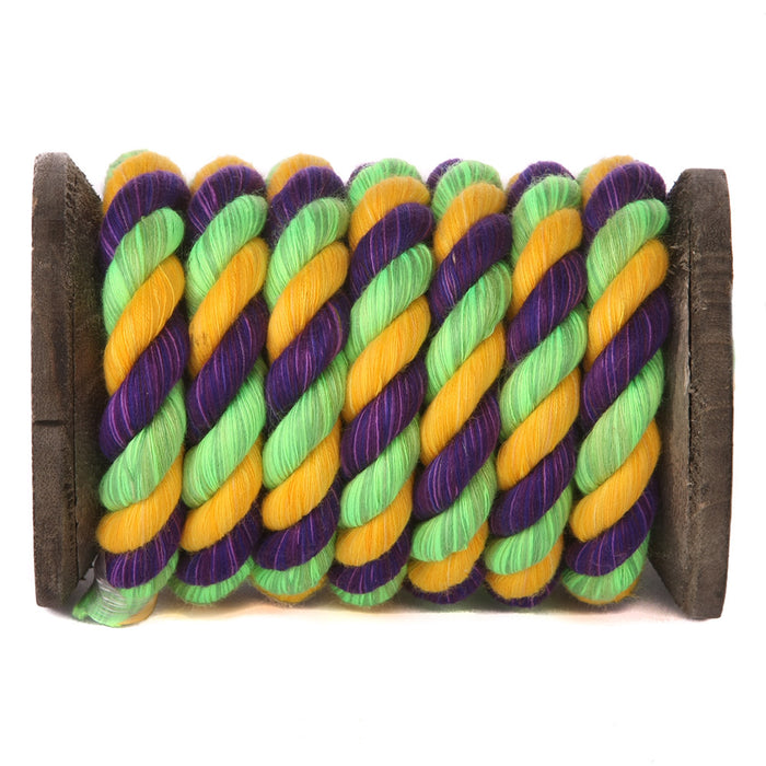 Akasenderedzwa Cotton Rope (Lime, Goridhe & Purple)