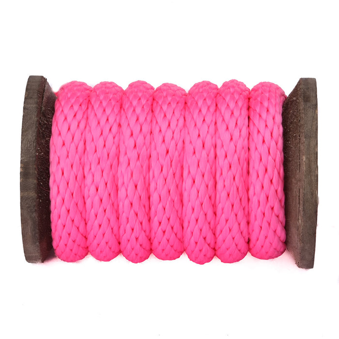 Solid Braid Polypropylene Utility Rope (Hot Pink)