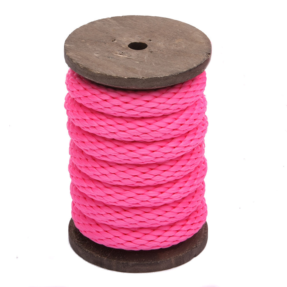 Solid Braid Polypropylen Utility Rope (Hot Pink)