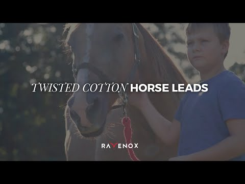 Handmade Cotton Horse Lead (Multiple Colors)