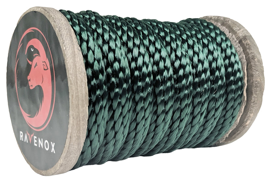 Solid Braid Polyester Rope (Hunter Green)