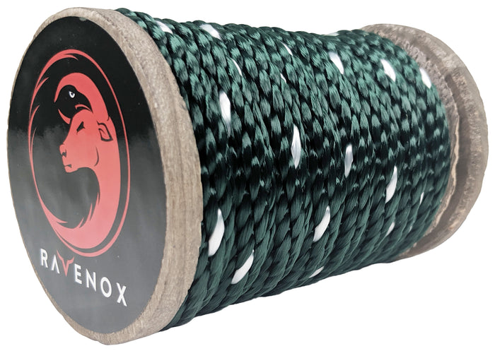 Solid Braid Polyester Rope (Hunter Green neTracer)