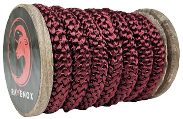 Knit Braid Polyester Rope (Burgundy)