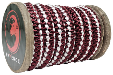 Knit Braid Polyester Rope (Burgundy with Tracer)