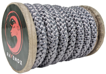 Knit Braid Polyester Rope (Grey)