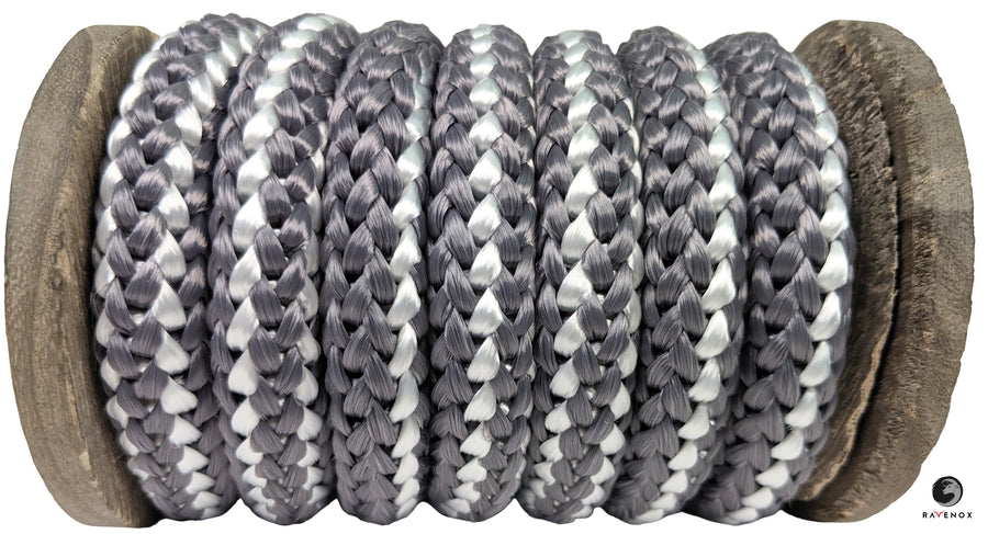 Knit Braid Polyester Rope (Grey with Tracer)