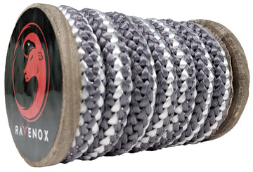 Copy of Knit Braid Polyester Rope (Grey with Tracer)