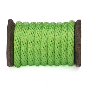 Solid Braid Polypropylene Utility Rope (Lime)
