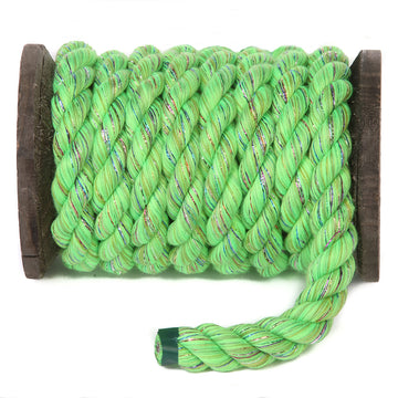 Twisted Cotton Rope (Lime Glitter)